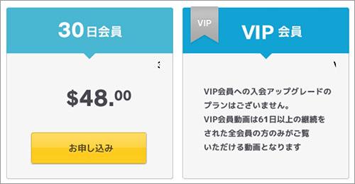 エロックスジャパンZの料金表